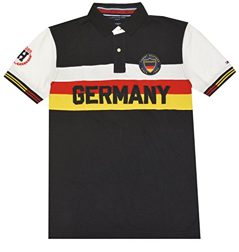 Tommy Hilfiger Men Custom Fit Country Pieced Polo-Germany (XL)