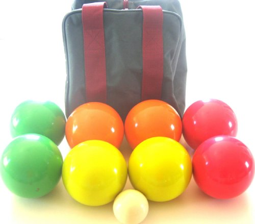 Premium Quality EPCO Tournament set - 110mm Glo Bocce Balls with high quality...