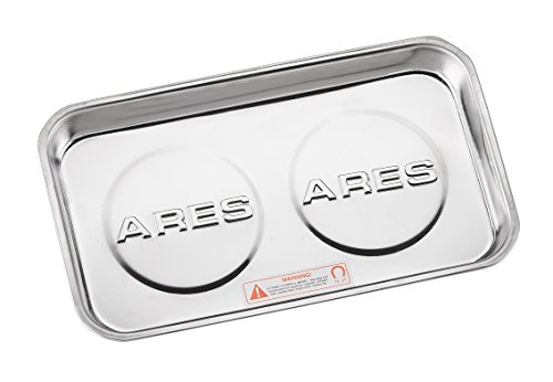 Large Magnetic Part Tray | ARES 70042 | Screws, Sockets, Bolts, Pins, and Tools stay Vertical, Horizontal & Upside Down with Super Strong 4 lb Magnets