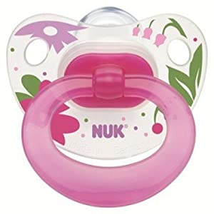 NUK Happy Days Silicone Size 2 Soother(Girls)