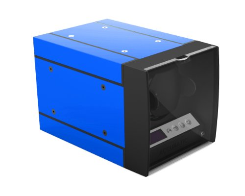 The Expandable Automatic Watch Winder w/Digital LCD Dispaly, w/Japanese Mabuchi motor (Blue)