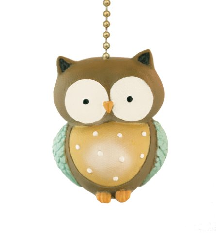 Clementine Design Little Owl Ceiling Fan Pull Home Decor Chain Light