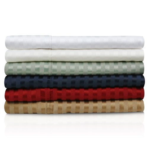 300TC Cotton Blend Deep Pocket Sheets 4-Piece Bed Sheet Set California King Ivory