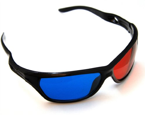 3D Glasses für Video Film und 3D Fernsehen in Reality ROT/CYAN - Anaglyphenbrille