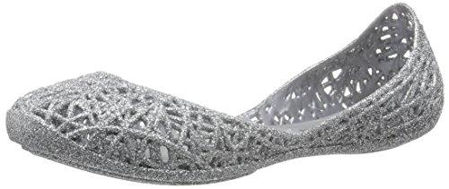 MINI MELISSA -Ballerina argentata in plastica MELFLEX, gomma profumata,elegante scarpa grigia, Bambina, Donna-31