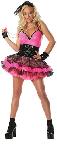 Delicious Totally 80's Costume, Pink/Black, Large