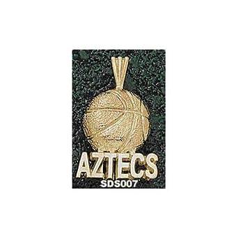 San Diego State Aztecs Aztecs Basketball Pendant - 14KT Gold Jewelry by Logo Art