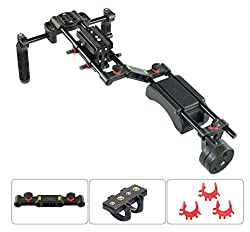 Filmcity FC-10W Camera Shoulder Rig Mount with Counter weight for DSLR Video Camera SONY CANON NIKON PANASONIC