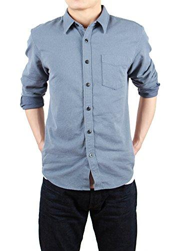bii-free-chemise-casual-chemise-a-carreaux-col-chemise-classique-manches-longues-homme-gris-small