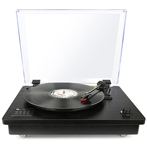 1byone Belt Driven Bluetooth Turntable
