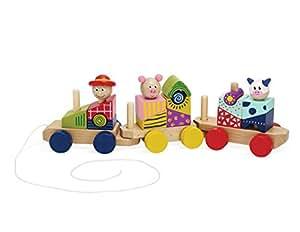 Manhattan Toy Manhattan Toy Stack and Pull Train
