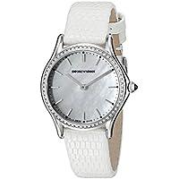 Emporio Armani ARS7010 Women's Analog Swiss Quartz Stainless Steel Watch (White)