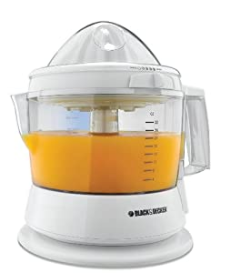 Black & Decker CJ630 32-Ounce Electric Citrus Juicer, White
