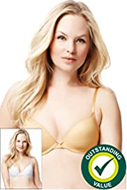 2 Pack Underwired Padded Plunge T-Shirt A-D Bras
