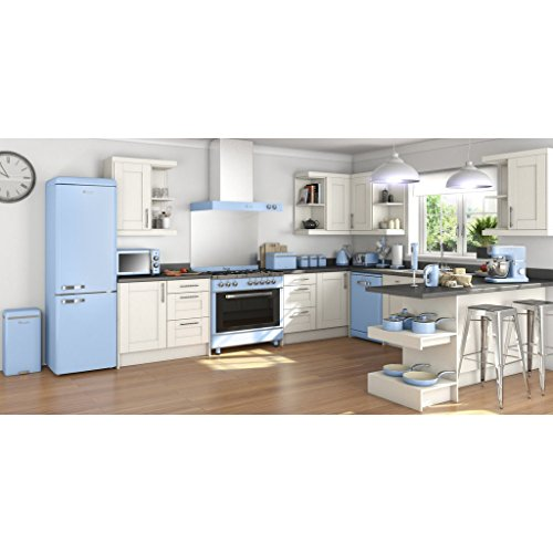 SWAN Retro Manual Microwave, 25 Litre, 900 W, Blue