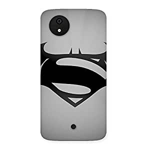 Cute Grey Vs Back Case Cover for Micromax Canvas A1