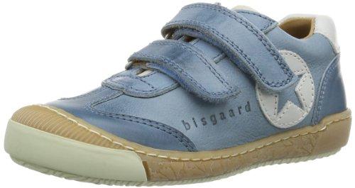 Bisgaard Unisex - Child Schuh mit Klettverschluss Low Blue Blau (24 Sea) Size: 28