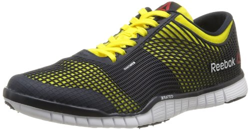 Reebok Men's Zquick TR Yellow, Navy and White Multisport Training Shoes - 6 UK