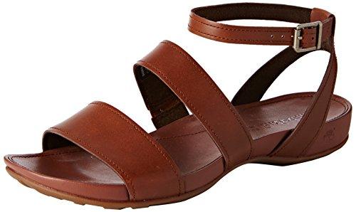 TimberlandLola Bay_Lola Bay Ankle Strap - Sandali a Punta Aperta Donna , Marrone (Braun (Dark Tan)), 40