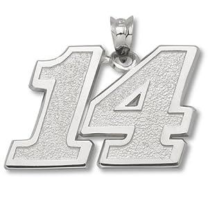 LogoArt Tony Stewart 5 8 Inch Sterling Silver Large Number Pendant - Tony Stewart... by Logo Art