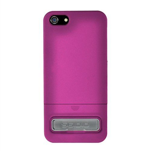 Special Sale Seidio CSR3IPH5K-HP Surface Case with Metal Kickstand for Apple iPhone 5 - 1 Pack - Retail Packaging - Fuchsia