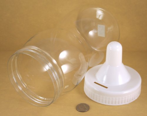 "Fillable Baby Shower Bottle Bank Decoration Choose 8"", 10"", Or 12.5"" And Color (12.5 Inches Tall, White) front-19993"