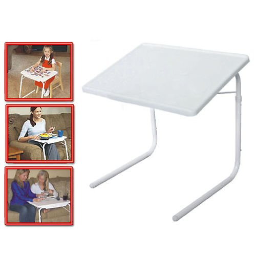 Lot Of 2 Set New Table Mate 2 As Seen On Tv Portable Adjustable Tv Dinner Tray Tablemate Ii