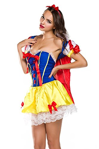 Voglee New Sexy Snow White Princess Women Adult Costume Dress
