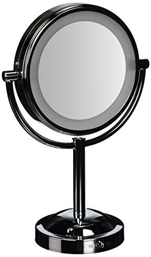 double sided battery operated lighted makeup mirror. Black Bedroom Furniture Sets. Home Design Ideas
