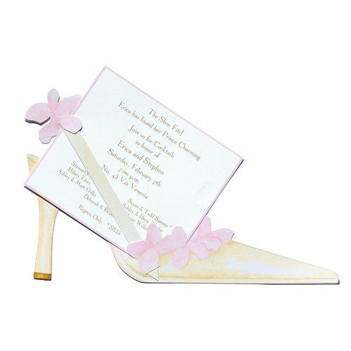 Flower Heel Die-Cut Card, Pack Of 10 front-837635