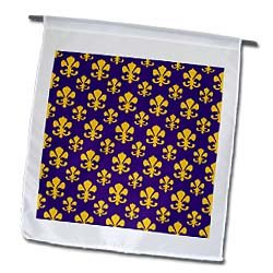 Fleur de lis pattern in LSU colors Dark Purple and Canary Yellow - 12 X 18 Inch Garden Flag at Amazon.com