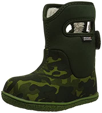 Bogs Baby Bogs Classic Camo Waterproof Winter and Rain Boot (Infant/Toddler/Little Kid/Big Kid), Green/Multi, 4 M US Toddler