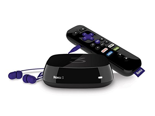 Roku 3 Streaming Media Player (4230R) with Voice Search (2015 Model) (Roku Media Streamer compare prices)