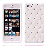 Bluetrade Diamond Silicone Case for iPhone 5 - White
