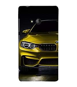EPICCASE golden bmw Mobile Back Case Cover For Nokia Lumia 540 (Designer Case)