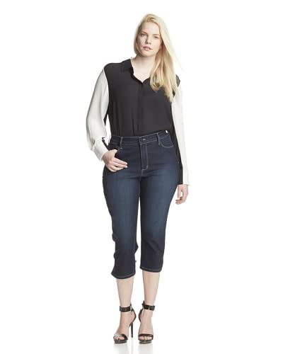NYDJ Women's Plus Isla Cropped Jean