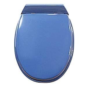 Abattant WC Renessa en bois - bleu foncé