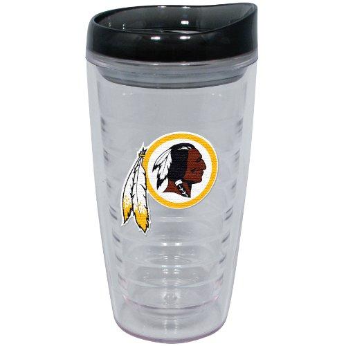 NFL Washington Redskins 16-Ounce Slimline Tumbler with Color Lid