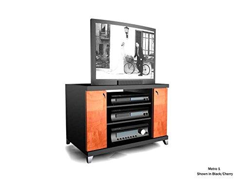 Soundations Metro 1 TV Stand (Black/Cherry)