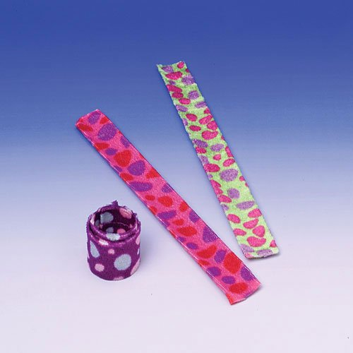 Dozen Assorted Color Polka Dot Slap Bracelets
