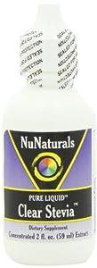 NuNaturals - Clear Stevia Pure Liquid Plastic Bottle - 2 oz. ( 2-Pack)