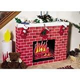 Corobuff Cardboard Fireplace Decoration