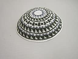 White & Green 17CM 6.6Inch Jewish Kippah Yarmulke Yarmulka Hat Cap Kippa