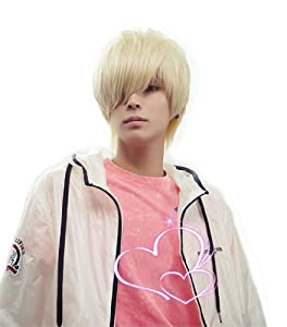 Men's Short Layered Cosplay Party Wig (Model: Jf010475)