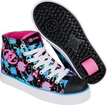 Heelys VELOZ Schuh 2017 black/pink/blue splatter 34