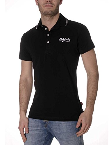 Polo Carlsberg Cotone Bielastico CBU2028 Made in Italy Nero, XL MainApps
