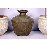 Handmade Bronze Planter 14.5 X 12.5 Inches Outdoor Indoor Pot Garden Vintage IndianShelf Online