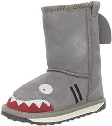EMU Australia Little Creatures-Shark Snow Boot (Toddler/Little Kid/Big Kid),Putty,8 M US Toddler