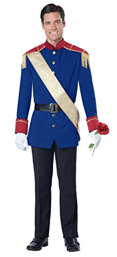 California Costumes Men's Storybook Prince, Blue/Red, Large