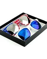 American Flag Wayfarer Sunglasses Glasses Box Set - Assorted